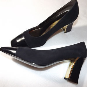 MAB STUDIO Bologna ITALY Black Suede/Leather Shoes